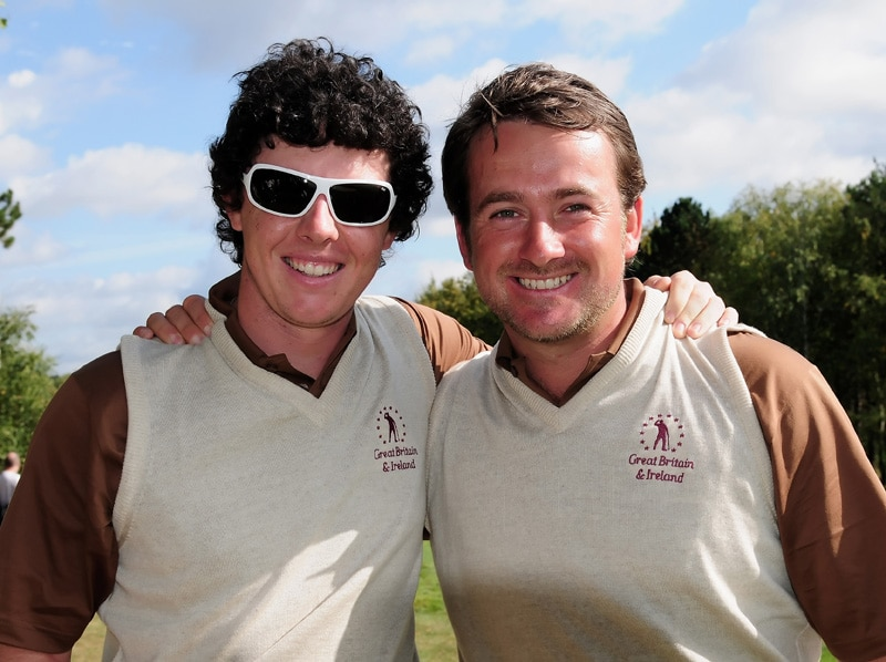 Rory McIlroy and Graeme McDowell at the 2009 Vivendi Trophy with Seve Ballesteros