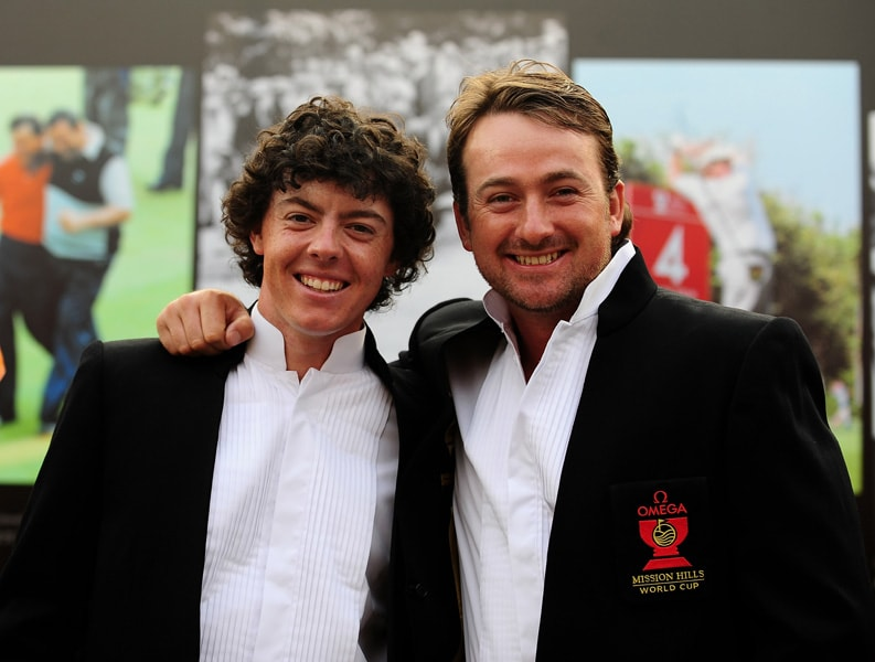 Rory McIlroy and Graeme McDowell at the 2009 Omega Mission Hills World Cup