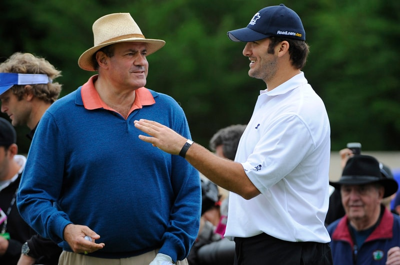 Chris Berman and Tony Romo