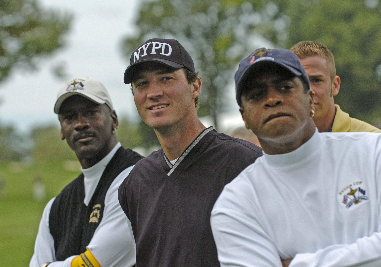 Michael Jordan, Amhad Rashad and Mario Lemieux