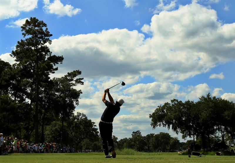 PONTE VEDRA BEACH, FL - MAY 15:  Graeme McDowell of Northern Ireland hits his tee shot on the ninth hole during the final round of THE PLAYERS Championship held at THE PLAYERS Stadium course at TPC Sawgrass on May 15, 2011 in Ponte Vedra Beach, Florida.  (Photo by Streeter Lecka/Getty Images)