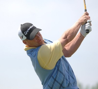 Tripp Isenhour in action during the second round of the Nationwide Tour 2006 LaSalle Bank Open at The Glen Club in Glenview, Illinois on June 9, 2006.Photo by Steve Grayson/WireImage.com