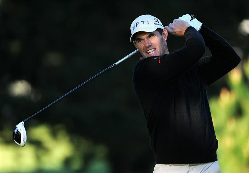 PEBBLE BEACH, CA - FEBRUARY 11:  Padraig Harrington of Ireland plays his tee shot on the second hole during the second round of the AT&T Pebble Beach National Pro-Am at the Pebble Beach Golf Links on February 11, 2011  in Pebble Beach, California  (Photo by Stuart Franklin/Getty Images)