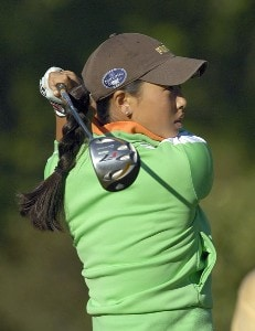Hana Kim during the second round of the Canadian Women's Open at the London Hunt and Country Club in London, Ontario on August 11, 2006.