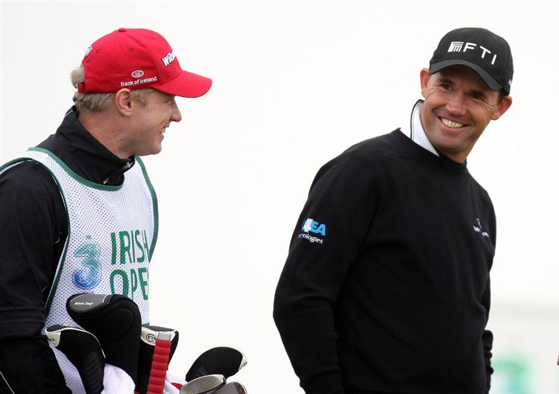 BALTRAY, IRELAND - MAY 13:  Padraig Harrington of Ireland during the Pro-Am prior to the start of The 3 Irish Open at County Louth Golf Club on May 13, 2009 in Baltray, Ireland.  (Photo by Ross Kinnaird/Getty Images)
