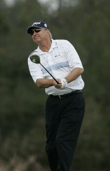 Don Pooley in action during the third round of the Greater Hickory Classic at Rock Barn on the Jones Course  in Conover, North Carolina on October 9, 2005.Photo by Michael Cohen/WireImage.com