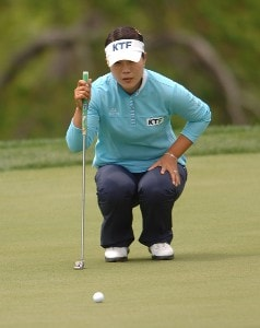 Meena Lee in action during the first round of the LPGA's 2006 Michelob ULTRA Open at Kingsmill, at the Kingsmill Resort and Spa River Course in Williamsburg, Virginia on May 11, 2006.Photo by Steve Grayson/WireImage.com