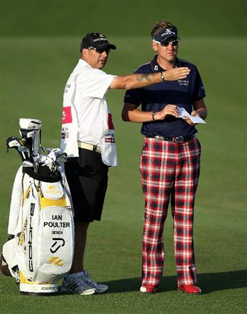 DOHA, QATAR - FEBRUARY 04:  Ian Poulter of England during the second round of the Commercialbank Qatar Masters at the Doha Golf Club on February 4, 2011 in Doha, Qatar.  (Photo by Ross Kinnaird/Getty Images)