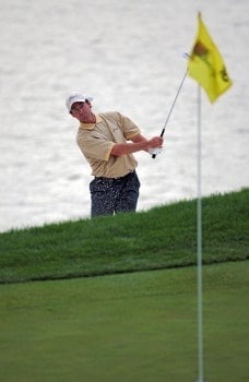 Mark Hensby of the International team during the second round of The Presidents Cup at Robert Trent Jones Golf Club in Prince William County, Virginia on September 23, 2005.Photo by Chris Condon/PGA TOUR/WireImage.com