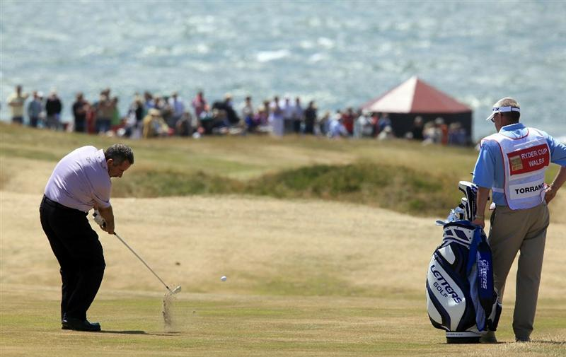PORTHCAWL, WALES - JUNE 20:  Sam Torrance of Scotland in action on the 18th hole during the final round of the Ryder Cup Wales Seniors Open played at Royal Porthcawl Golf Club on June 20, 2010 in Porthcawl, Wales.  (Photo by Phil Inglis/Getty Images)