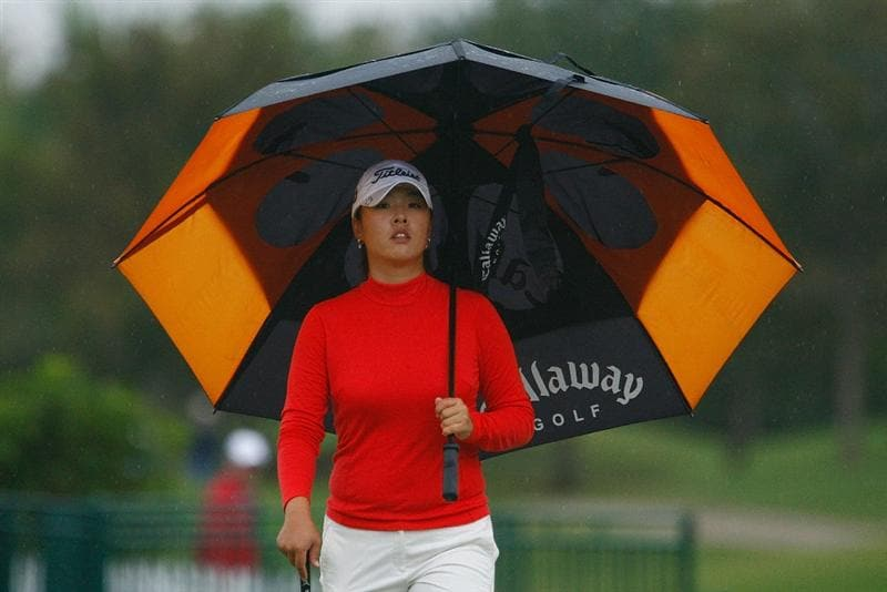 RICHMOND, TX - NOVEMBER 20:  Haeji Kang of South Korea walks to the 18th tee during the second round of the LPGA Tour Championship presented by Rolex at the Houstonian Golf and Country Club on November 20, 2009 in Richmond, Texas.  (Photo by Scott Halleran/Getty Images)