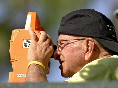 A Shotlink volunteer on the 15th green  during the first round of the 2006 Chrysler Championship Oct. 26 in Palm Harbor, Fl. PGA TOUR - 2006 Chrysler Championship - First RoundPhoto by Al Messerschmidt/WireImage.com