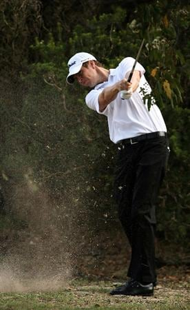 PERTH, AUSTRALIA - FEBRUARY 22: Adam Blyth of Australia plays his second shot on the 3rd hole during day four of the 2009 Johnnie Walker Classic at The Vines Resort and Country Club on February 22, 2009 in Perth, Australia.  (Photo by Paul Kane/Getty Images)