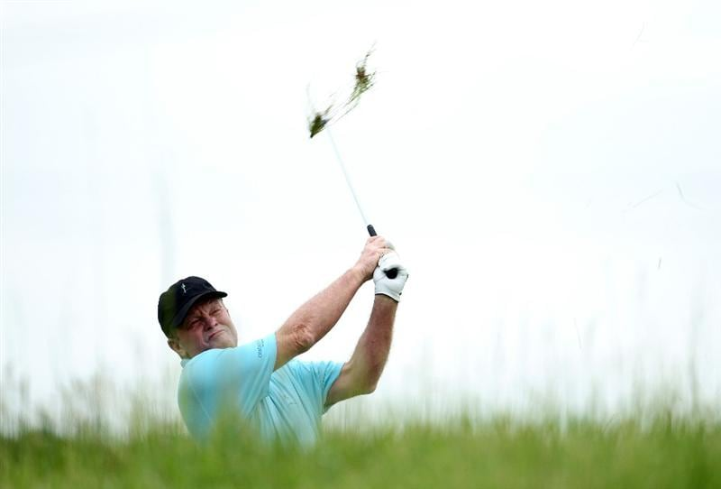 LOUISVILLE, KY - MAY 26:  Tom Kite hits his second shot on the par 4 5th hole during the first round of the Senior PGA Championship presented by KitchenAid at Valhalla Golf Club on May 26, 2011 in Louisville, Kentucky.  (Photo by Andy Lyons/Getty Images)