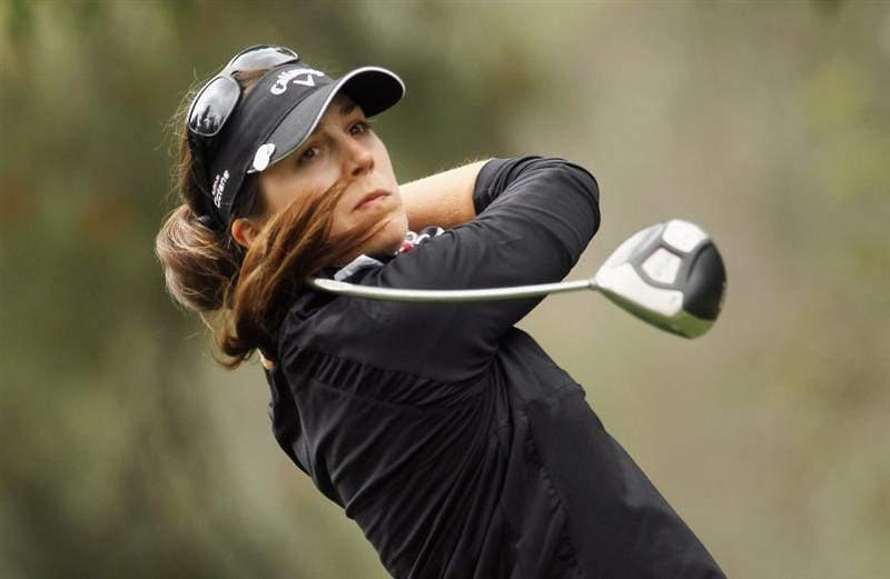 CITY OF INDUSTRY, CA - MARCH 26:  Sandra Gal of Germany hits her tee shot on the third hole during the third round of the Kia Classic on March 26, 2011 at the Industry Hills Golf Club in the City of Industry, California.  (Photo by Scott Halleran/Getty Images)