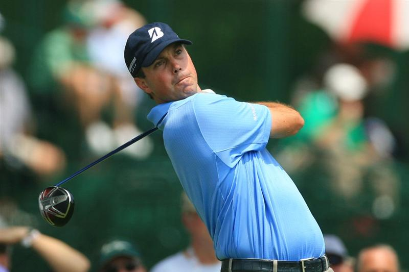 FORT WORTH, TX - MAY 22: Matt Kuchar hits his tee shot on the third hole during the final round of the Crowne Plaza Invitational at Colonial Country Club on May 22, 2011 in Fort Worth, Texas. (Photo by Hunter Martin/Getty Images)