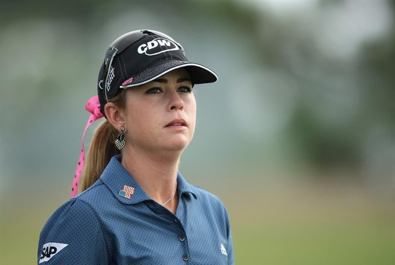 LA JOLLA, CA - SEPTEMBER 19:  Paula Creamer of the USA looks on during the third round of the LPGA Samsung World Championship on September 19, 2009 at Torrey Pines Golf Course in La Jolla, California.  (Photo By Donald Miralle/Getty Images)