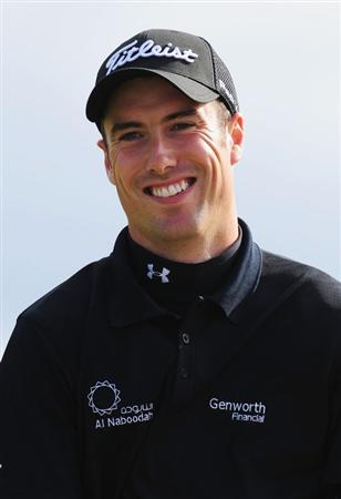 TURNBERRY, SCOTLAND - JULY 18:  Ross Fisher of England smiles on the 15th green during round three of the 138th Open Championship on the Ailsa Course, Turnberry Golf Club on July 18, 2009 in Turnberry, Scotland.  (Photo by Stuart Franklin/Getty Images)