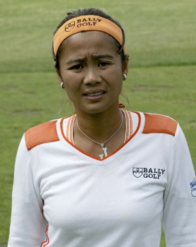 Jennifer Rosales during the third round of the 2005 Wegman's Rochester LPGA at Locust Hill Country Club in  Pittsford, New York on June 18, 2005.Photo by Michael Cohen/WireImage.com