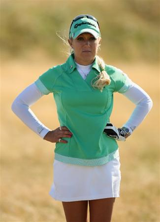 LYTHAM ST ANNES, ENGLAND - JULY 30:  Natalie Gulbis of USA waits on the 16th hole during the first round of the 2009 Ricoh Women's British Open Championship held at Royal Lytham St Annes Golf Club, on July 30, 2009 in  Lytham St Annes, England.  (Photo by Warren Little/Getty Images)