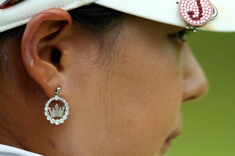 KUALA LUMPUR, MALAYSIA - OCTOBER 24 : Jee Young Lee of South Korea looks on on the 11th hole during the Final Round of the Sime Darby LPGA at the Kuala Lumpur Golf and Country Club on October 24, 2010 in Kuala Lumpur, Malaysia. (Photo by Stanley Chou/Getty Images)