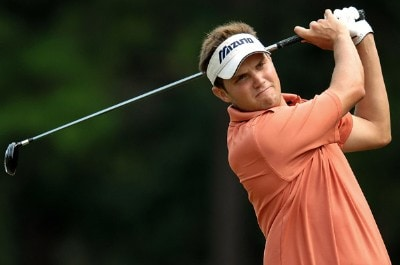 Jeff Overton plays his shot from the second tee during the final round of the Wyndham Championship at Forest Oaks Country Club on August 19, 2007 in Greensboro, North Carolina. PGA TOUR - 2007 Wyndham Championship - Final RoundPhoto by Jonathan Ernst/WireImage.com