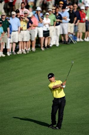 AUGUSTA, GA - APRIL 08:  Y.E. Yang of South Korea hits a shot to the second green during the second round of the 2011 Masters Tournament at Augusta National Golf Club on April 8, 2011 in Augusta, Georgia.  (Photo by Harry How/Getty Images)