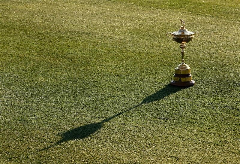 LOUISVILLE, KY - SEPTEMBER 17:  The Ryder Cup is seen during the USA team photo shoot prior to the 2008 Ryder Cup at Valhalla Golf Club on September 17, 2008 in Louisville, Kentucky.  (Photo by David Cannon/Getty Images)