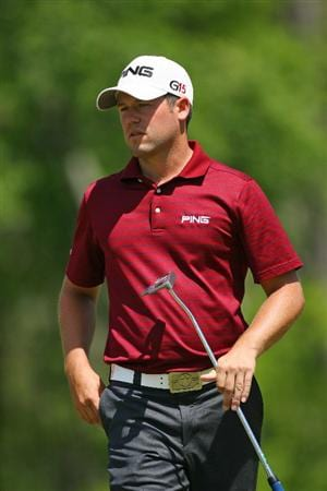 HUMBLE, TX - APRIL 3: Alex Prugh walks to his ball on the fifth green during the third round of the Shell Houston Open at Redstone Golf Club on April 3, 2010 in Humble, Texas. (Photo by Hunter Martin/Getty Images)