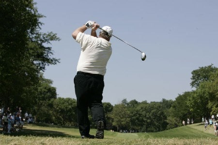Craig Stadler in action during the championship round of the 2005 U.S. Senior Open Championsip at NCR Country Club in Kettering, Ohio July 31, 2005.Photo by Stan Badz/PGA TOUR/WireImage.com