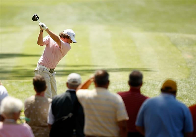 HILTON HEAD ISLAND, SC - APRIL 17:  Rory McIlroy hits his tee shot on the 3rd hole during the second round of the Verizon Heritage at Harbour Town Golf Links on April 17, 2009 in Hilton Head Island, South Carolina.  (Photo by Streeter Lecka/Getty Images)
