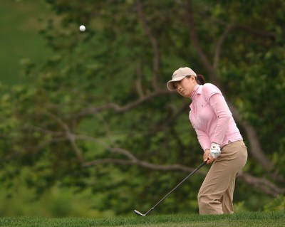 Shi Hyun Ahn in action during the first round of the LPGA's 2006 Michelob ULTRA Open at Kingsmill, at the Kingsmill Resort and Spa River Course in Williamsburg, Virginia on May 11, 2006.Photo by Steve Grayson/WireImage.com