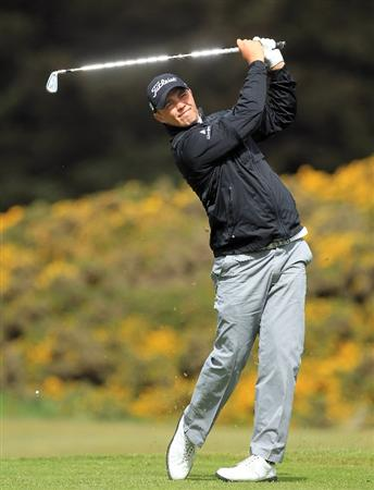 ABERDEEN, SCOTLAND - MAY 12:  Kris Nicol of Scotland during the 2011 Walker Cup Squad practice session at Royal Aberdeen Golf Club on May 12, 2011 in Aberdeen, Scotland.  (Photo by David Cannon/Getty Images)