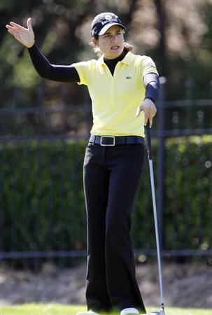 DANVILLE, CA - OCTOBER 11: Lorena Ochoa of Mecxico watches her tee shot on the 9th hole during the third round of the LPGA Longs Drugs Challenge at the Blackhawk Country Club October 11, 2008 in Danville, California. (Photo by Max Morse/Getty Images)