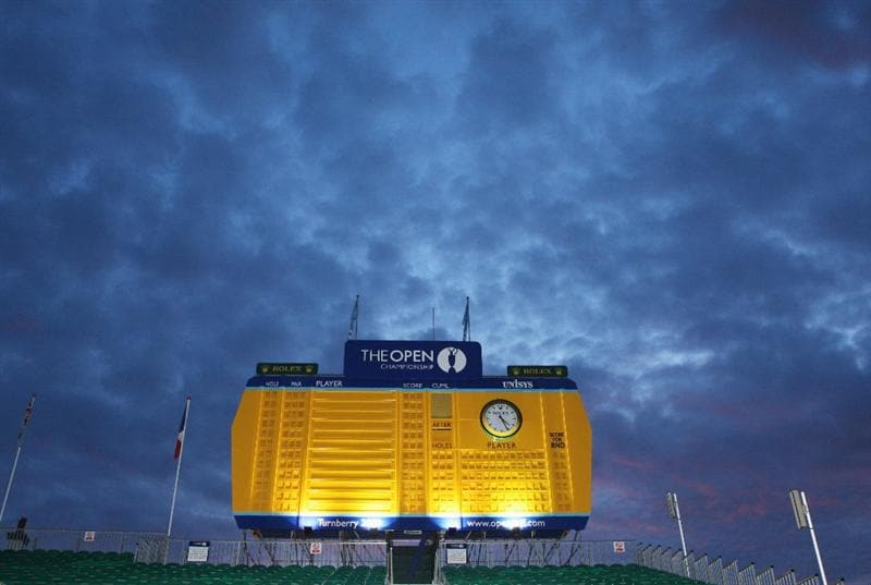 TURNBERRY, SCOTLAND - JULY 16:  A view of the scoreboard during round one of the 138th Open Championship on the Ailsa Course, Turnberry Golf Club on July 16, 2009 in Turnberry, Scotland.  (Photo by David Cannon/Getty Images)