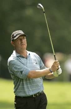 Gary Emerson in action during the second round of the 2005 BMW Championship at Wentworth Golf Club's West Course. May 27, 2005Photo by Pete Fontaine/WireImage.com