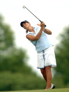 Laura Diaz in action during the first round of the 2006 Franklin American Mortgage Championship benefiting the Monroe Carell Jr. Children's Hospital at Vanderbilt at Vanderbilt Legends Club in Franklin, Tennessee on May 4, 2006.Photo by Steve Grayson/WireImage.com