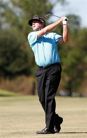 MADISON, MS - OCTOBER 03:  Michael Allen hits his second shot on the 10th hole during the final round of the Viking Classic held at Annandale Golf Club on October 3, 2010 in Madison, Mississippi.  (Photo by Michael Cohen/Getty Images)