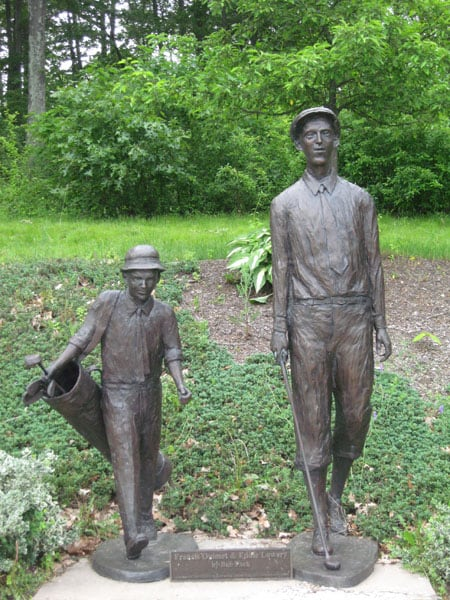 Statue of Francis Ouimet and Eddie Lowery