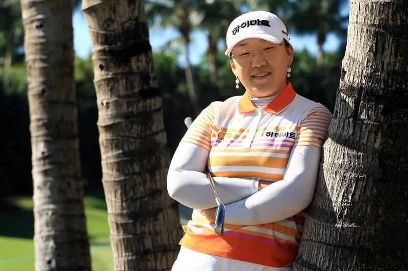 WEST PALM BEACH, FL - NOVEMBER 18:  LPGA player Ji-Yai Shin poses for a portrait prior to the start of the ADT Championship at the Trump International Golf Club on November 18, 2008 in West Palm Beach, Florida.  (Photo by Scott Halleran/Getty Images)
