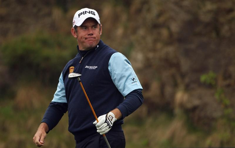 ICHEON, SOUTH KOREA - APRIL 30:  Lee Westwood of England in action during the third round of the Ballantine's Championship at Blackstone Golf Club on April 30, 2011 in Icheon, South Korea.  (Photo by Andrew Redington/Getty Images)