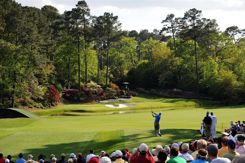 AUGUSTA, GA - APRIL 11:  Chad Campbell watches his tee shot on the 12th hole during the third round of the 2009 Masters Tournament at Augusta National Golf Club on April 11, 2009 in Augusta, Georgia.  (Photo by Harry How/Getty Images)