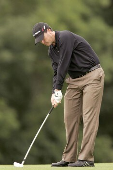 Marcus Fraser during the second round of the 2005 Smurfit European Open on the Palmer Course at the K Club in Straffan, Ireland on July 1, 2005.Photo by Pete Fontaine/WireImage.com
