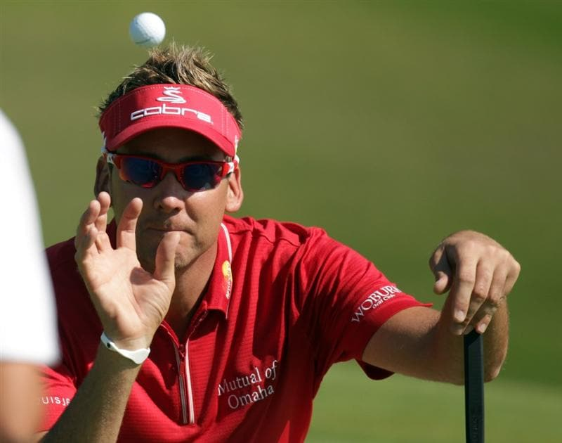 CASARES, SPAIN - MAY 21:  Ian Poulter of England during his last 16 match of the Volvo World Match Play Championships at Finca Cortesin on May 20, 2011 in Casares, Spain.  (Photo by Ross Kinnaird/Getty Images)