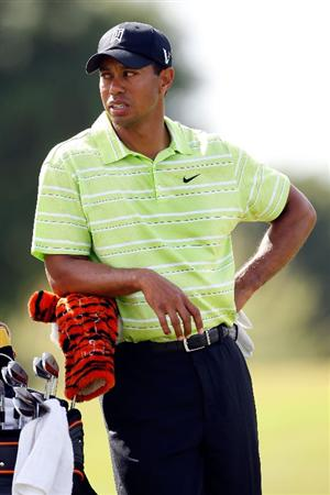 DORAL, FL - MARCH 14:  Tiger Woods waits to hit his 2nd shot on the 1st hole during the third round of the World Golf Championships-CA Championship on March 14, 2009 at the Doral Golf Resort and Spa in Miami, Florida.  (Photo by Jamie Squire/Getty Images)
