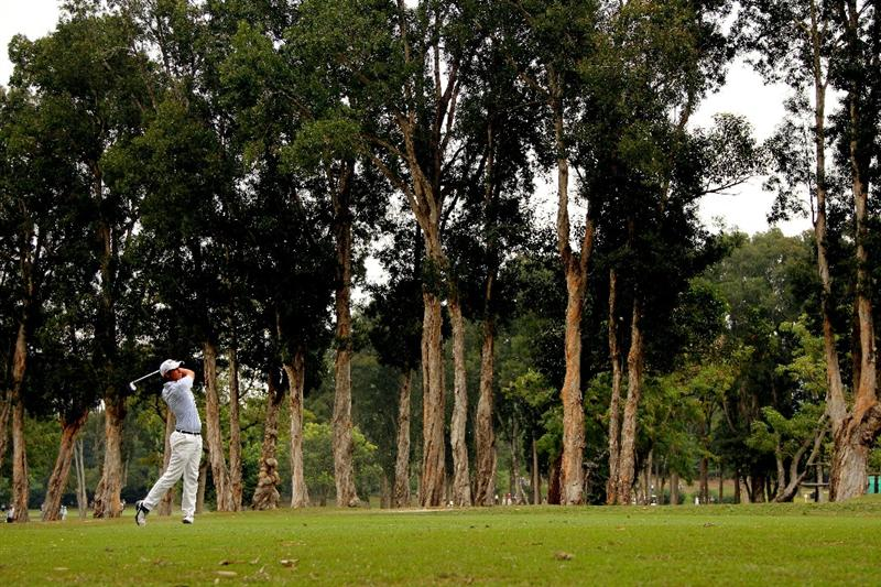 HONG KONG - NOVEMBER 20:  Matteo Manassero of Italy plays a shot on the fairway of the 7th hole during day three of the UBS Hong Kong Open at The Hong Kong Golf Club on November 20, 2010 in Hong Kong, Hong Kong.  (Photo by Stanley Chou/Getty Images)