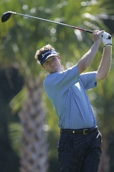 Tim Petrovic hits from the 7th tee in the third round of the Ford Championship at Doral in Miami, Florida. March 5, 2005
