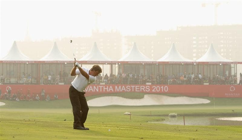 NEW DELHI, INDIA - FEBRUARY 13:  Barry Lane of England in action during Round Three of the Avantha Masters held at The DLF Golf and Country Club on February 13, 2010 in New Delhi, India.  (Photo by Ian Walton/Getty Images)