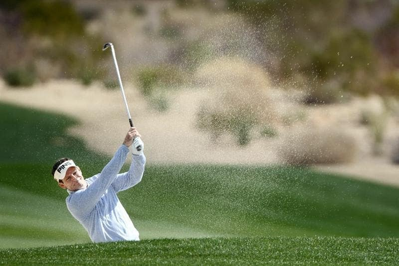 MARANA, AZ - FEBRUARY 24:  Mark Wilson hits from a bunker on the second hole during the second round of the Accenture Match Play Championship at the Ritz-Carlton Golf Club on February 24, 2011 in Marana, Arizona.  (Photo by Andy Lyons/Getty Images)