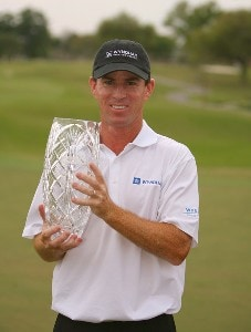 Skip Kendall poses with the trophy after winning the Chitimacha Louisiana Open at Le Triomphe Country Club in Broussard, Louisiana on March 25, 2007. Nationwide Tour - 2007 Chitimacha Louisiana Open - Final RoundPhoto by Mike Ehrmann/WireImage.com